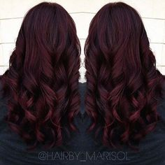 It's All the Rage: Mahogany Hair Color dark burgundy hair with highlights Burgundy Hair With Highlights, Dark Red Hair Burgundy, Hair Color Dark, Ombre Hair Color, Hair Highlights, Dark Hair, Burgundy Color, Peekaboo Highlights, Brown Hair