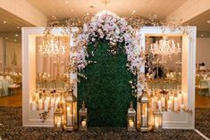 Or this at the entrance Luxurious Gold Blush Mint Wedding - Captured by Arte De Vie Blush Mint Wedding, Trendy Wedding, Dream Wedding, Wedding Events, Wedding Ceremony, Wedding Stage Decorations, Bridal Show, Ceremony Backdrop, Event Decor