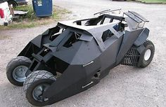 batmobile go kart. This would be great if I had skills...and stood only 4 feet tall