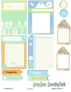 Free Printable Download - Spring Journaling Cards - Vintage Glam Studio