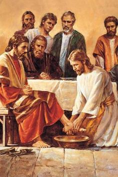 Today being Maundy Thursday - the day of the Last Supper - I am posting 16 pics of the last supper. Half of them shows Jesus and His disciples sitting at the table and the next 8 pictures show Jesus washing the feet of his disciples. Images Du Christ, Images Bible, Pictures Of Jesus Christ, Religious Pictures, Bible Pictures, Religious Art, Jesus Christ Lds, Jesus Art, God Jesus