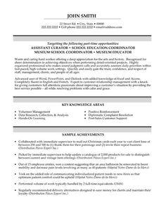 click here to download this assistant curator resume template httpwww - Banking Sales Resume