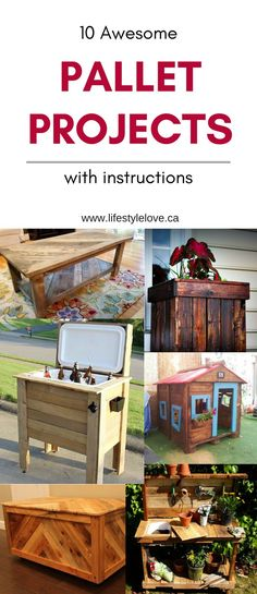 Pallet Woodworking 10 Awesome DIY Pallet Projects with instructions. Indoor and outdoor, pet and home furniture. Pallet Projects Instructions, Pallet Projects Signs, Diy Projects, Upcycled Home Decor, Cute Home Decor, Cheap Home Decor, Home Crafts, Diy And Crafts, Pallet Boards
