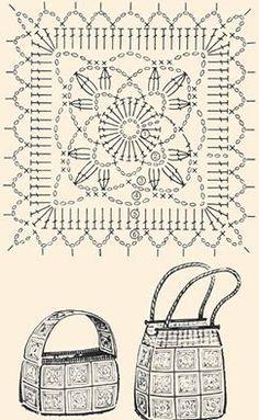 Transcendent Crochet a Solid Granny Square Ideas. Inconceivable Crochet a Solid Granny Square Ideas. Crochet Motifs, Granny Square Crochet Pattern, Crochet Squares, Crochet Granny, Diy Crochet, Crochet Doilies, Crochet Patterns, Granny Squares, Crochet Chart