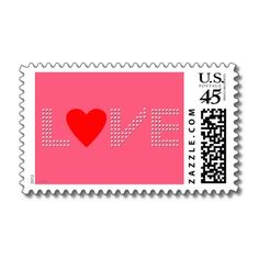 Love Heart Postage Stamp