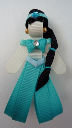 Princess Jasmine Ribbon Sculpture hair clip