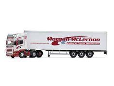 Scania R Fridge Trailer (Morgan McLernon Transport) in White (1:50 scale by Corgi CC13751)