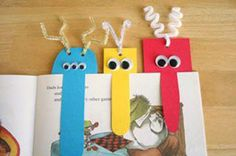 Marcapáginas caseros con forma de monstruos graciosos para niños - Juntines.com