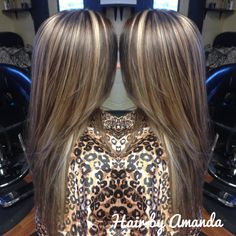 platinum highlights with a medium brown base platinum