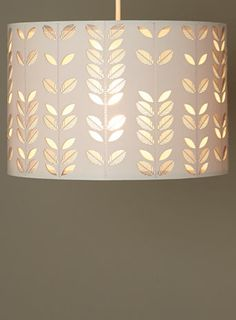 White leaf cut-out shade - shades & bases - Home, Lighting & Furniture