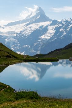 The Lake Bachalpsee in Switzerland. First