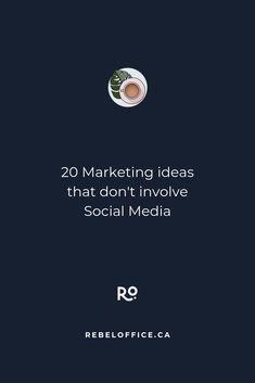 20 Marketing Ideas That Don't Involve Social Media Digital Marketing Business, Online Marketing, Social Media Marketing, Marketing Strategies, Entrepreneur Books, Business Entrepreneur, Business Planning, Business Tips, Facebook Business