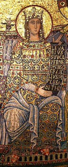 Mary, Queen of HeavensMaria Regina del Cielo (Rom, Santa Maria in Trastevere, Apsismosaik (apse mosaic)