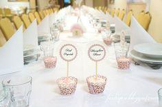 Fiolinea - Ślubna Galanteria Papiernicza: Muffinkowe różowe wesele Anny i Marcina na sali Zielony Gaj w Złotoryi