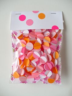 Pink and orange garland