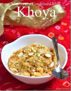 Easy indian sweets for diwali kalakand khoya recipe in microwave