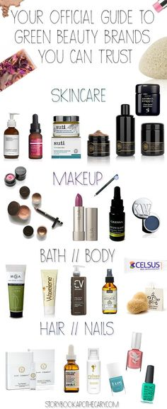 I've spent many years reviewing products and several months putting together a comprehensive list of green beauty brands I know and love for every beauty category - skincare, makeup, body care, hair care, nails, and more! Click through to see the full list ♥