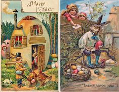 easter postcards vintage | ... by Brian March 2010 Holiday Postcards Tags: holidays easter fantasy