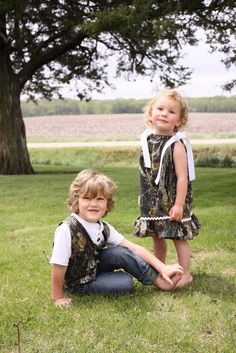 Girl's Dress and Boy's Vest!