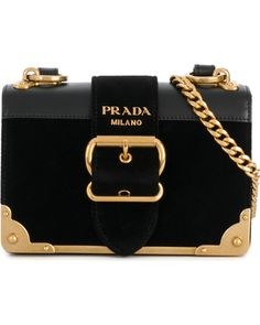 3b2695a628 Prada Prada - Cahier buckle shoulder bag - women - Leather Suede - One Size
