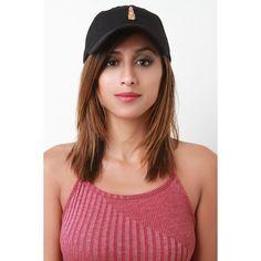 Lipstick Pin Baseball Cap ($18) via Polyvore featuring accessories, hats, ball cap, 6 panel cap, baseball caps, 6 panel baseball cap and ball cap hats