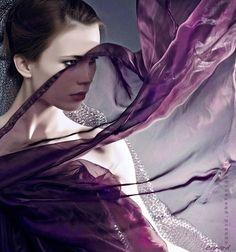 Flowing purple.