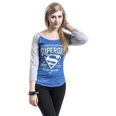 Supergirl  Shirt met lange mouwen  »Stronger & Faster« | Nu te koop bij Large | Meer Fan merch  Longsleeves online beschikbaar - De beste prijs!