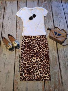 Leopard Pencil Skirt | SexyModest Boutique #leopard #summer #casual