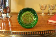 Blenko Green Glass Ashtray, Blenko Rooster Dish, Blenko Rooster and Weather Vane Ashtray, Green Blenko, Tobacciana, Midcentury Barware by MadGirlRetro on Etsy
