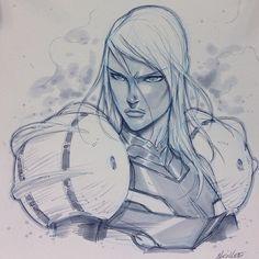 Metroid - Samus Aran by Alvin Lee Samus Aran, Metroid Samus, Comic Book Artists, Comic Artist, Comic Books Art, Alvin Lee, Character Art, Character Design, Artist Alley