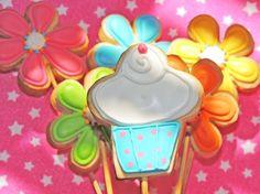 galletas decoradas con glaseado - cupcake  cookie glase decoration