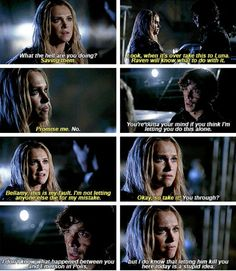 Parallel no. ~Bellarke~ Bellamy not approving of Clarke going alone to Emerson. Bellamy being protective Bellarke, Movies Showing, Movies And Tv Shows, The 100 Characters, 100 Memes, The 100 Show, Bob Morley, Clexa, The Hundreds