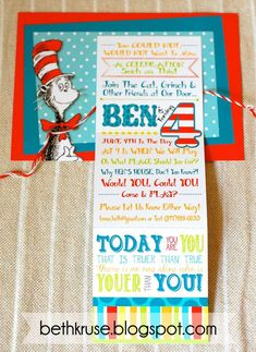 Dr. Seuss Birthday Party Ideas | Photo 2 of 48 | Catch My Party