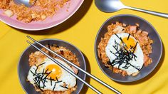 Not the high-heat stir-fry you might expect, Grace Lee's home-style fried-rice recipe uses a simple technique — make an easy, flavorful kimchi sauce, mellowed out with butter, and sauté leftover rice in it It's perfect for a snack or a quick, simple meal The Spam, though optional, reflects many Koreans' love of foods introduced by the American military.
