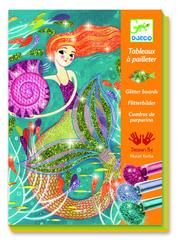 £12.50 DJECO Mermaid Glitter Boards - Create your own glittery mermaids and see who is the sparkliest one under the sea! DJ09507 Mermaid Art and Crafts
