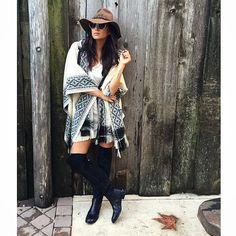 Shay Mitchell looks so chic in this knee-length boots and cozy cardigan. | Pretty Little Liars