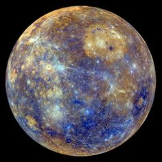 PLANET MERCURY Photograph by NASA/Johns Hopkins University Applied Physics Laboratory/Carnegie Institution of Washington This colorful view of Mercury was produced by using images from the color base map imaging campaign during MESSENGER's primary mission. These colors are not what Mercury would look like to the human eye, but rather the colors enhance…