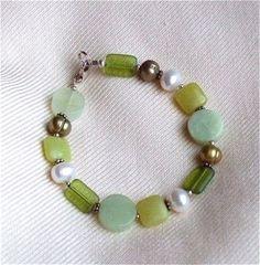 Czech Green Glass Jasper Bead Olive New Jade by westlakebeads, $40.00
