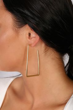 Lulus | Lamartine Gold Geometric Earrings
