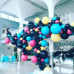 """171 Likes, 11 Comments - Luft Balloons (@luft.balloon) on Instagram: """"The static view from a 50s themed Sockhop party. Anyone in Chicago looking to do some creative…"""""""