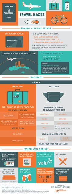 Travel Hacks   #infographic #Travel