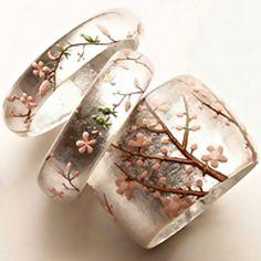 Sakura cherry blossom rings...pinned by ♥ wootandhammy.com, thoughtful jewelry.
