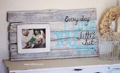 DIY pallet art with frame