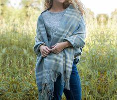 Grey Tartan Blanket Wrap