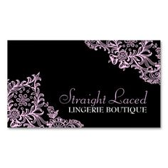 311 Straight Laced Pink Black Business Card Templates