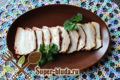 "Recipe of pork loin in onion peel. Ingredients for cooking ""Pork belly in onion peel"". How To Cook Pork, Cooking Pork, Lamb Recipes, Pork Loin, Pork Belly, The Dish, Sushi, Dishes, Meat"