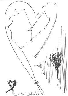DARTGR0115045 #Heart #Love #Black #DanielaDallavalle #Grafismi #loveistheanswer #ink #sketches #art #sentences #phrase