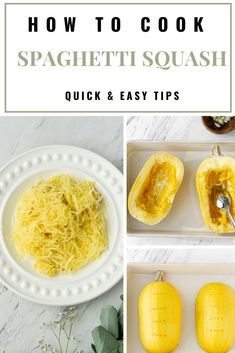 Learn how to cook spaghetti squash with these easy methods. Cook baked, roasted, instant pot, or microwave. Also, I've included some healthy recipes from lasagna, carbonara, pesto noodle recipes, and more. #spaghettiSquash #vegandinnerRecipes #howtocook Delicious Vegan Recipes, Raw Food Recipes, Brunch Recipes, Vegan Food, Healthy Recipes, What Is Spaghetti, Spaghetti Squash, Vegan Breakfast, Breakfast Ideas