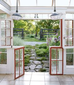 Love this! I'm going to be i search of old windows...this is what my back porch is going to look like!