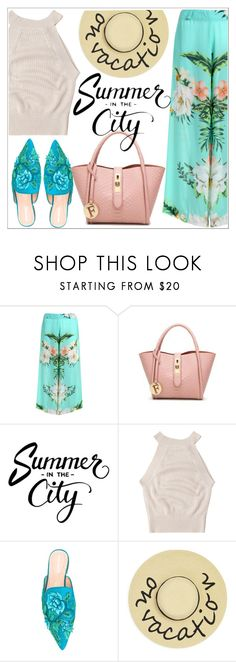 """Summer in the city"" by teoecar ❤ liked on Polyvore featuring Alberta Ferretti and August Accessories"